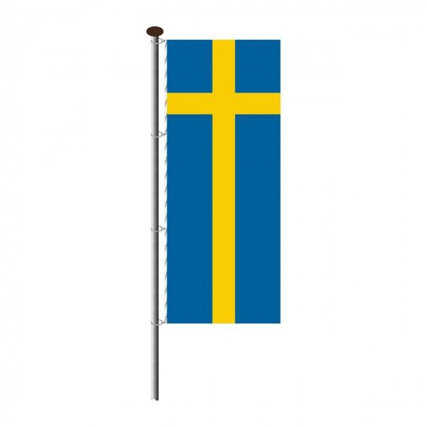 Fahne Schweden im Hochformat
