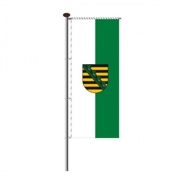 Fahne Sachsen für Auslegermast