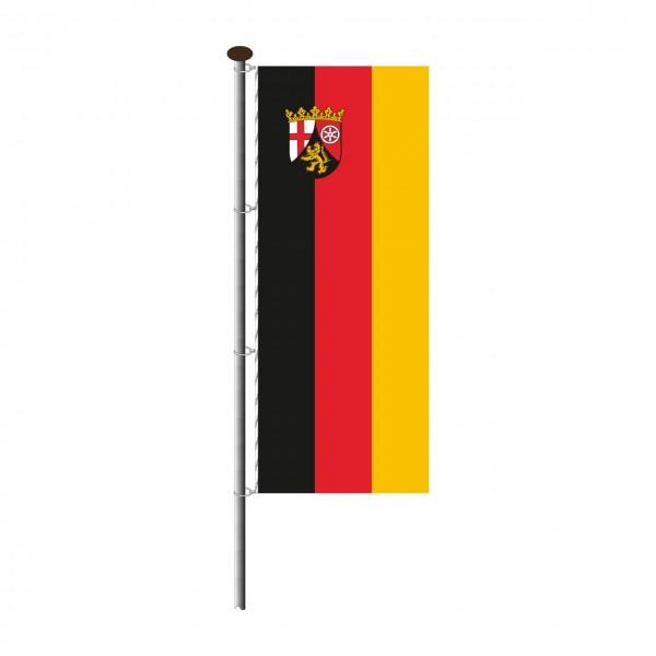 Fahne Rheinland-Pfalz im Hochformat
