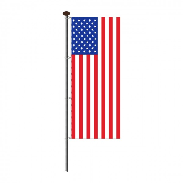 Fahne USA im Hochformat