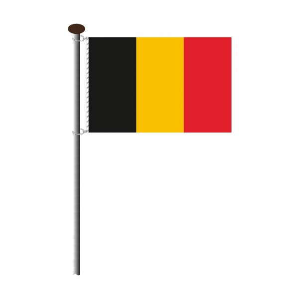 Fahne Belgien im Querformat