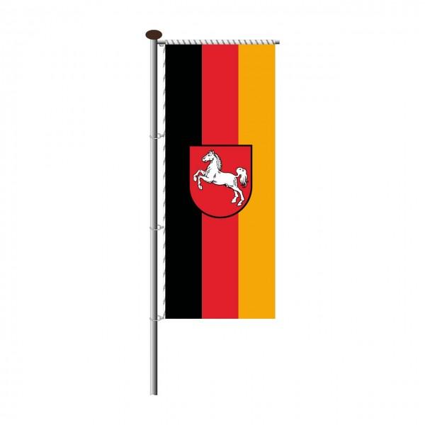 Fahne Niedersachsen für Auslegermast