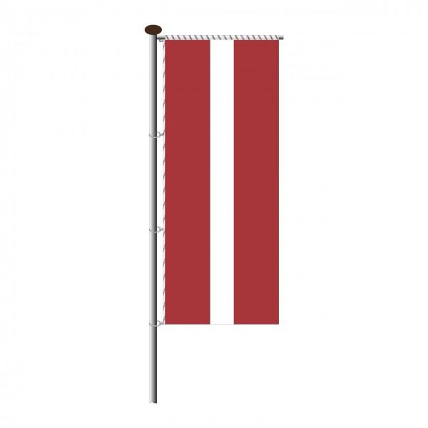 Fahne Lettland für Auslegermast