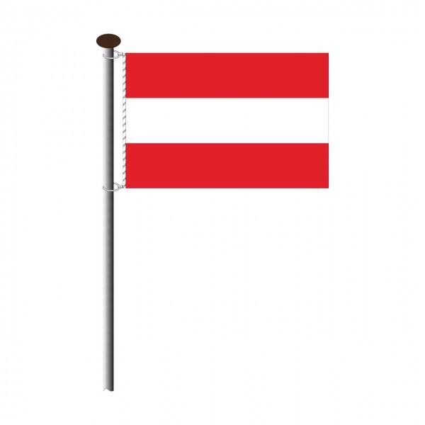 Fahne Österreich im Querformat