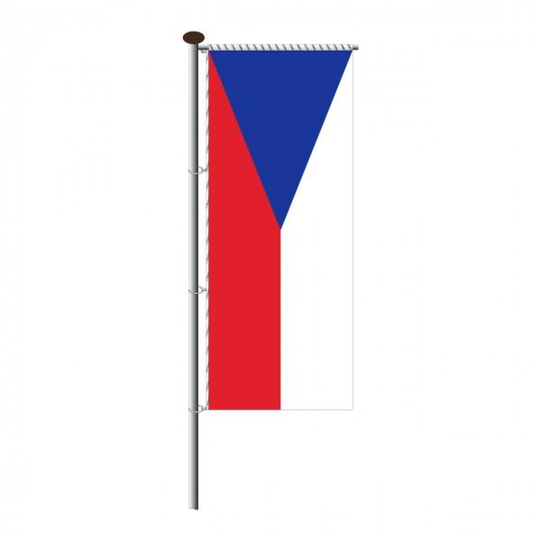 Fahne Tschechien für Auslegermast