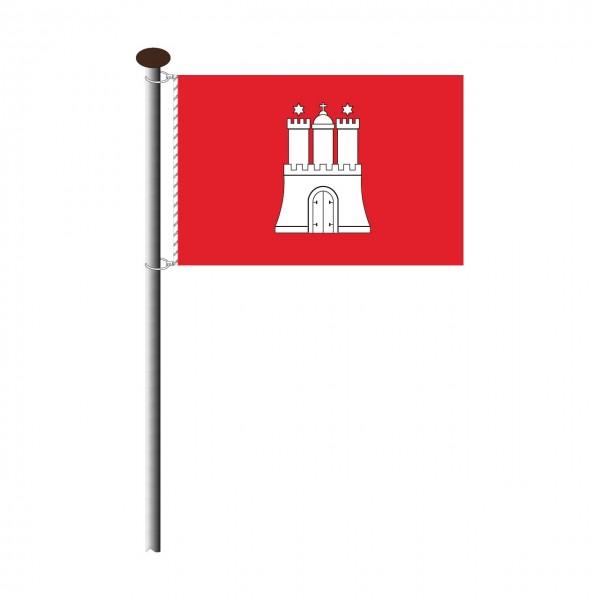 Fahne Hamburg Querformat