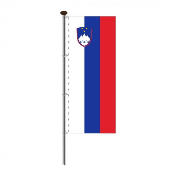 Fahne Slowenien im Hochformat