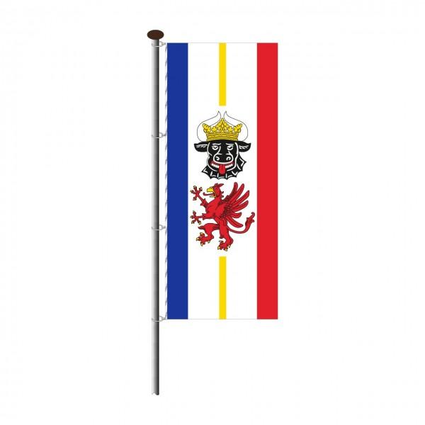 Fahne Mecklenburg Vorpommern im Hochformat