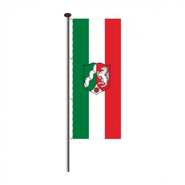 Fahne Nordrhein-Westfalen im Hochformat