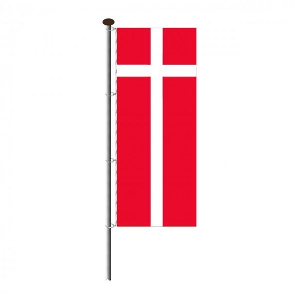 Fahne Dänemark im Hochformat