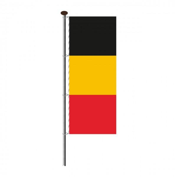 Fahne Belgien im Hochformat