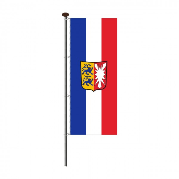 Fahne Schleswig-Holstein im Hochformat