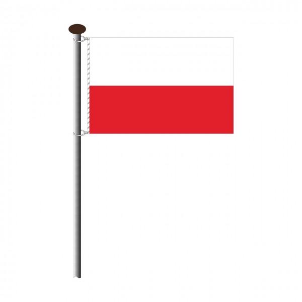 Fahne Polen im Querformat