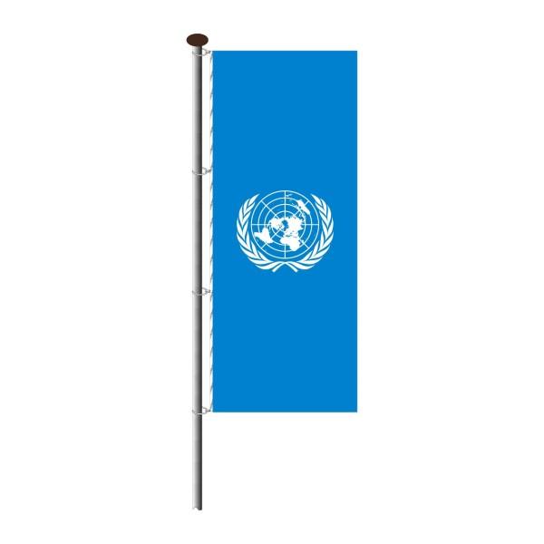 Fahne UNO im Hochformat