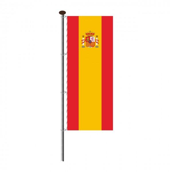 Fahne Spanien im Hochformat