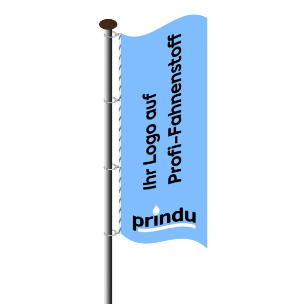 Fahne im Hochformat
