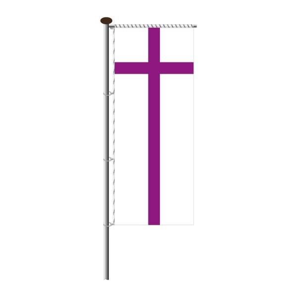 Fahne evangelische Kirche für Auslegermast