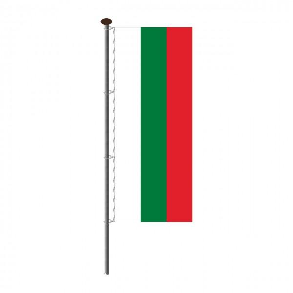 Fahne Bulgarien im Hochformat