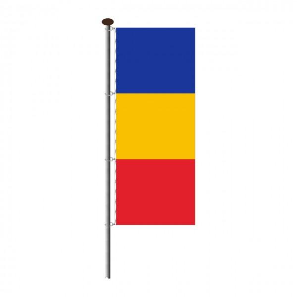 Fahne Rumänien im Hochformat