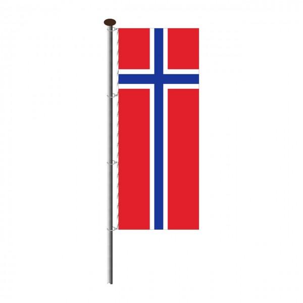 Fahne Norwegen im Hochformat