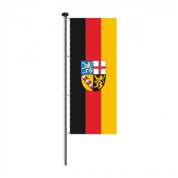 Fahne Saarland im Hochformat