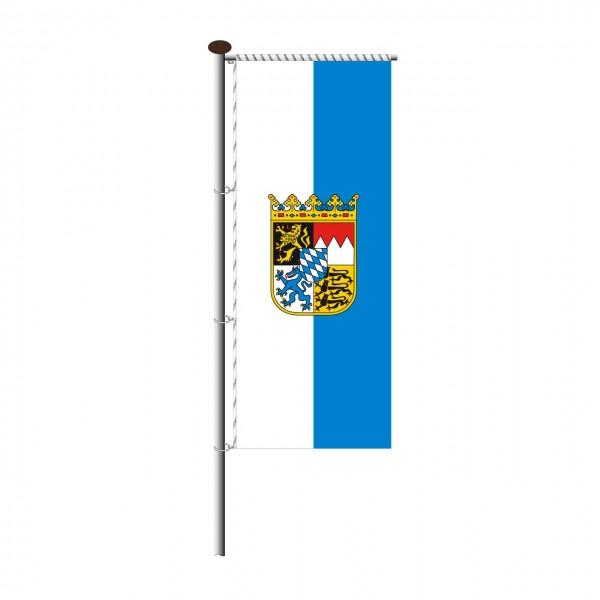 Fahne Bayern mit Wappen für Auslegermast