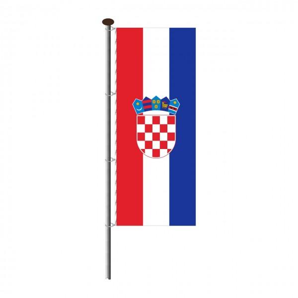 Fahne Kroatien im Hochformat