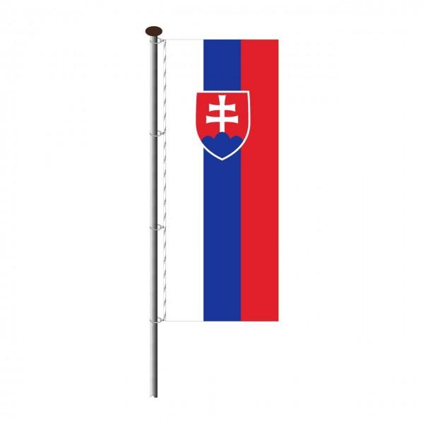 Fahne Slowakei im Hochformat