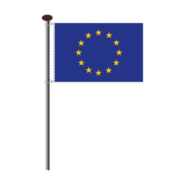Fahne europäische Union im Querformat