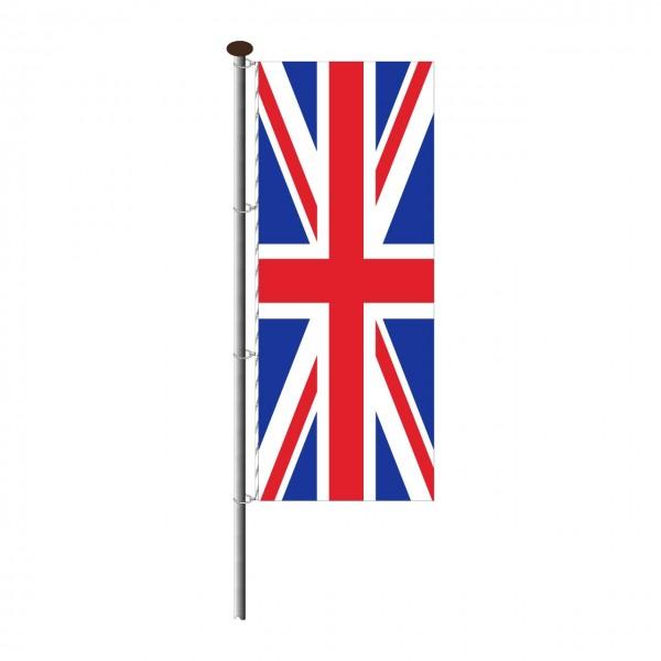 Fahne Großbritannien im Hochformat