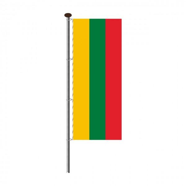 Fahne Litauen im Hochformat