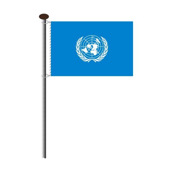 Fahne UNO im Querformat