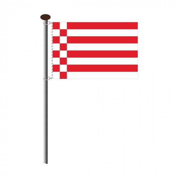 Fahne Bremen ohne Wappen Querformat