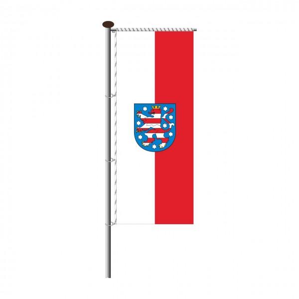 Fahne Thüringen für Auslegermast