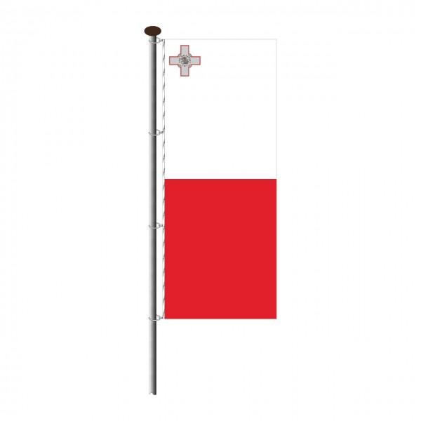 Fahne Malta im Hochformat