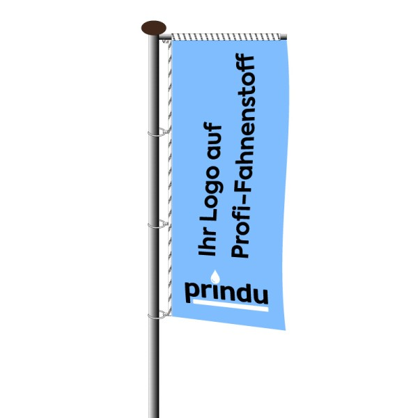 Fahne im Hochformat für Ausleger