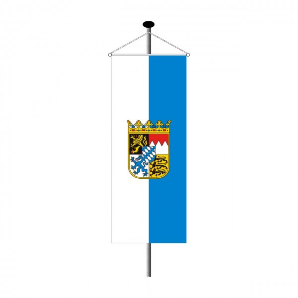 Bannerfahne Bayern mit Wappen