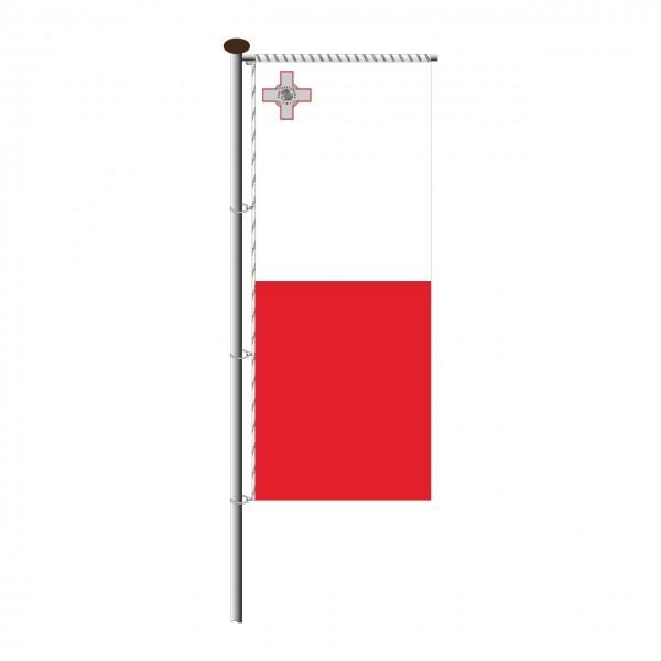 Fahne Malta für Auslegermast