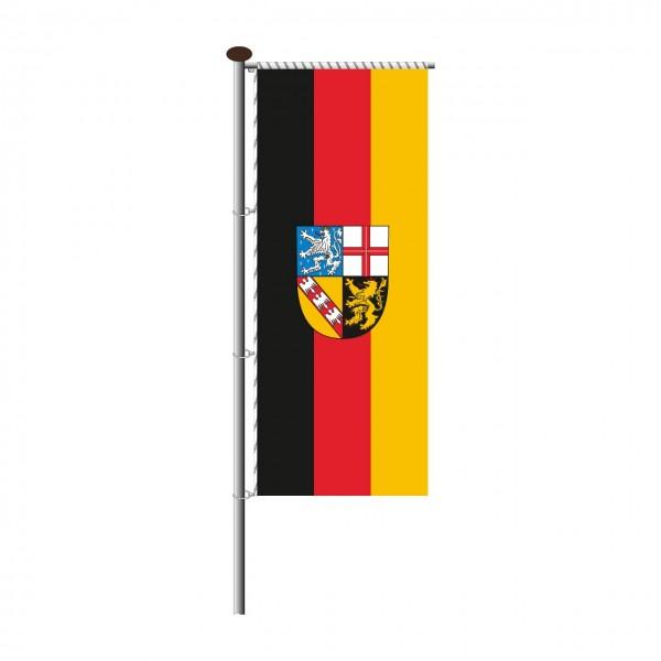 Fahne Saarland für Auslegermast