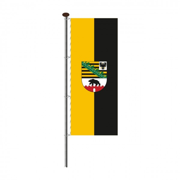 Fahne Sachsen-Anhalt im Hochformat