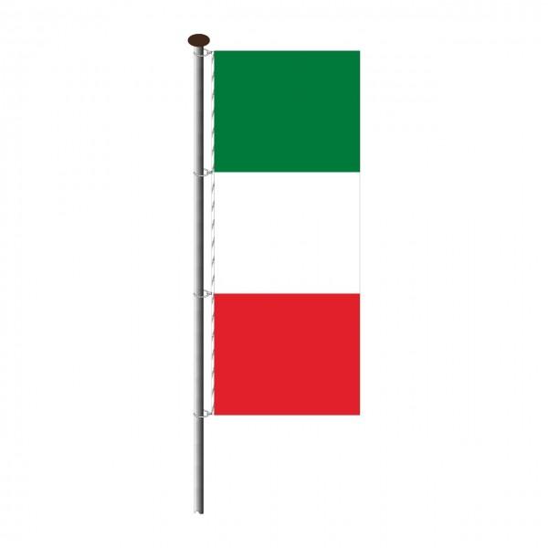 Fahne Italien im Hochformat