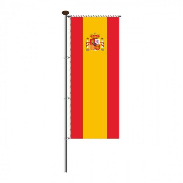 Fahne Spanien für Auslegermast