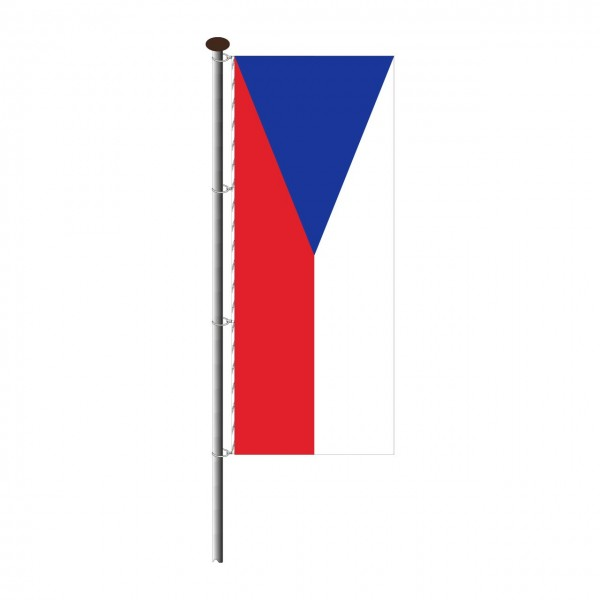 Fahne Tschechien im Hochformat