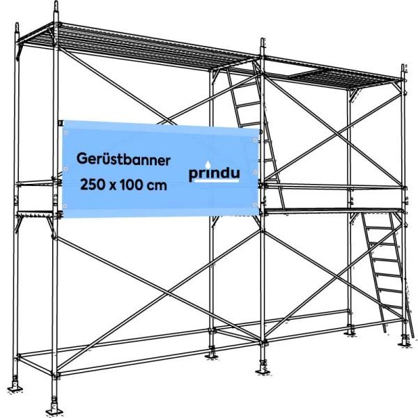 Gerüstbanner 250 x 100 cm