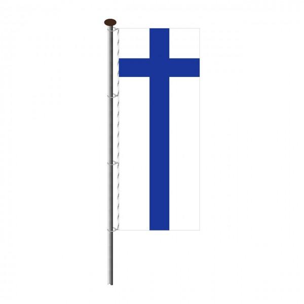 Fahne Finnland im Hochformat