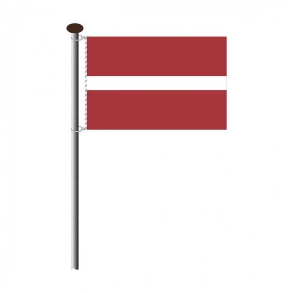 Fahne Lettland im Querformat