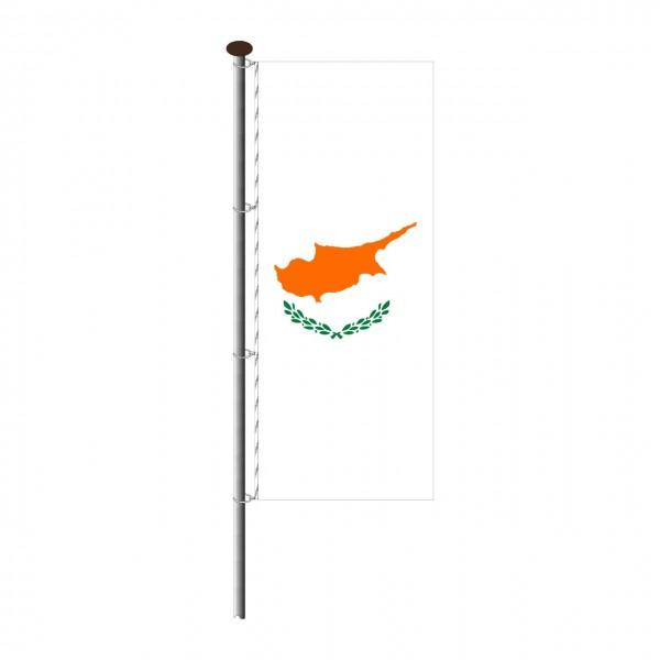 Fahne Zypern im Hochformat