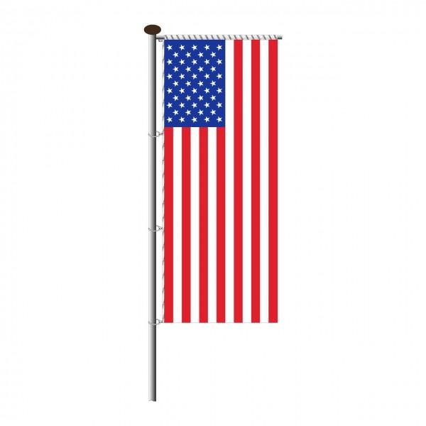 Fahne USA für Auslegermast