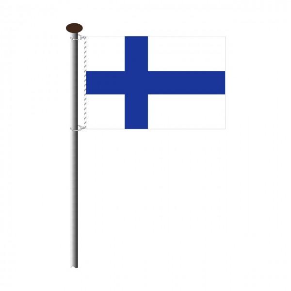 Fahne Finnland Querformat