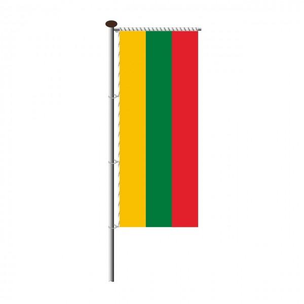 Fahne Litauen für Auslegermast